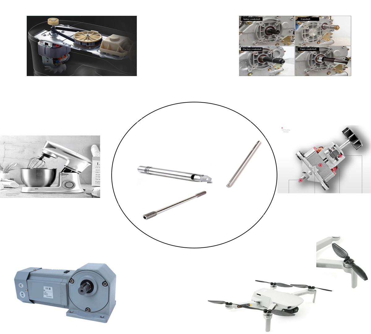 Precision engineering machinery motor shaft